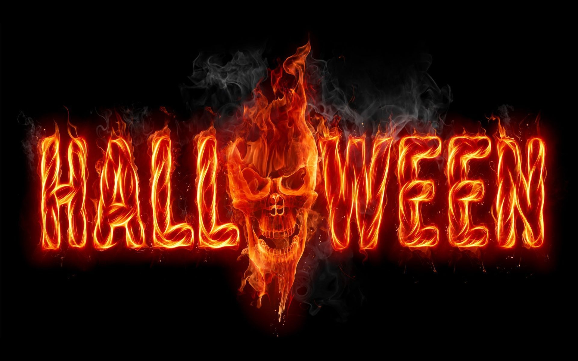 Картинка с надписью хэллоуин, открытка