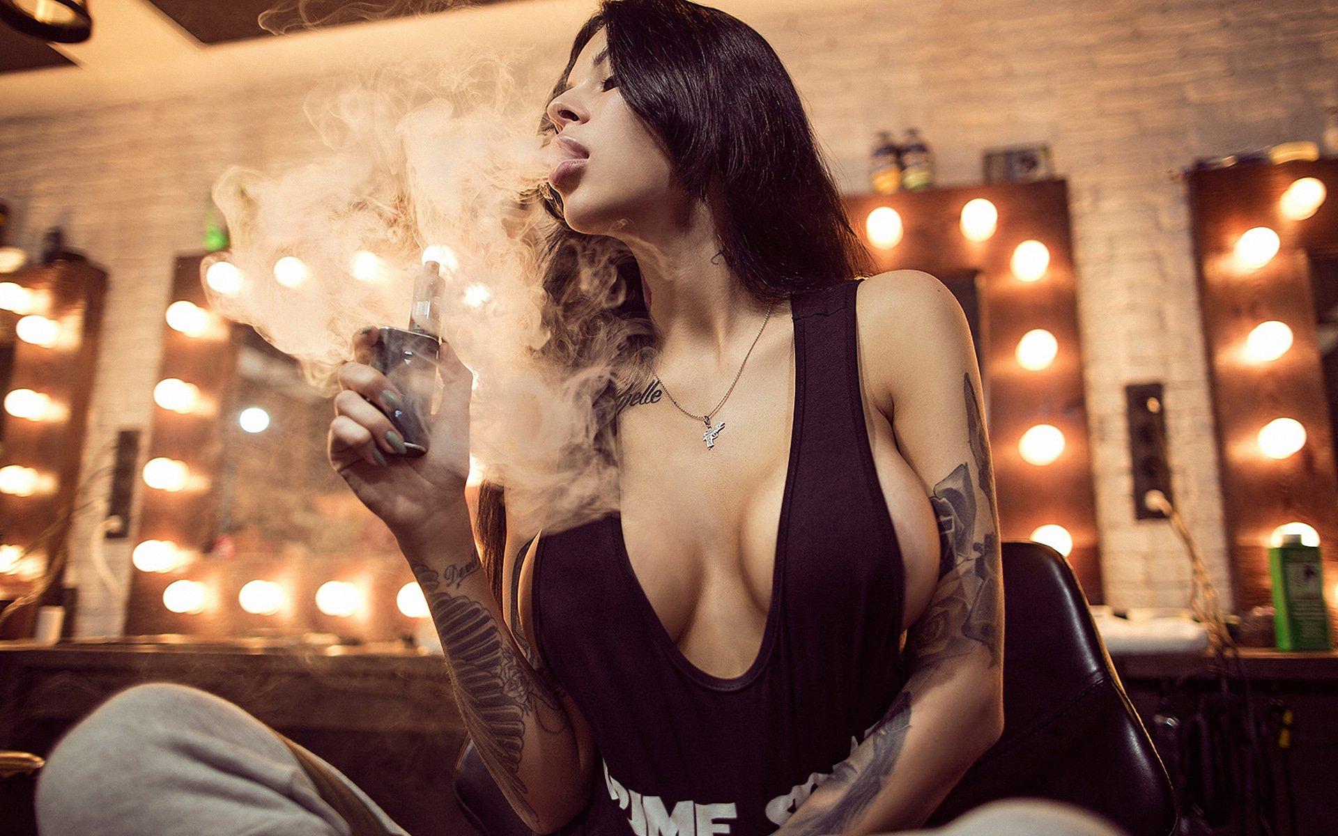 Sexy cigar woman women off fucking